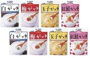 アヲハタ おかゆ4種 8食入り[白がゆ2食、梅がゆ2食、玉子がゆ2食、鮭がゆ2食]