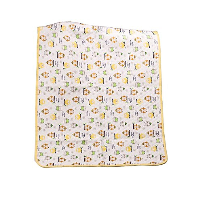 IRYPULSEおむつ替えマット おねしょシーツ おむつ替えシート 100%天然綿 吸水 抗菌 消臭 防水 洗濯可能 シングル 大きいサイズ 105×70cm 1枚 黄