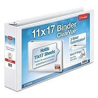 CRD22142 - Cardinal 11 x 17, ClearVue Slant-D Ring Binder [並行輸入品]