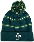 アイルランドRugby Striped Bobble Beanie帽子17–Deep Teal グリーン
