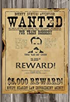 "Wantedポスター印刷ブラックジャックKetchum for Train Robbery 12 "" x 18 "" Old Westポスター"
