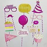 HuaQingPiJu-JP かわいいクリエイティブな女性の赤ちゃん1歳の誕生日パーティー写真の小道具(女の子の誕生日)