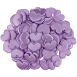 Kesoto 約100枚 紙吹雪 花びら ハート サテン DIY 結婚式 部屋装飾 4色選べる - 紫