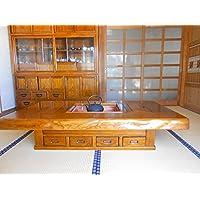 欅(ケヤキ)天然無垢材 本格 火鉢 囲炉裏 テーブル 幅150cm 漆塗り仕上
