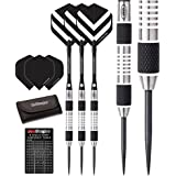 Red Dragon Chevron 24g - 90% Tungsten Steel Darts with Flights, Shafts, Wallet & Red Dragon Checkout Card