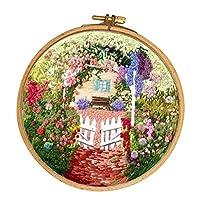 Fenteer 刺しゅうキット 初心者 秘密の花園柄 家 壁掛け 飾り 1セット 全5種 - E005