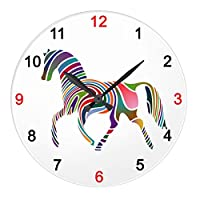 虹の馬の壁掛け時計:ピクチャークロック(馬シリーズ) (A) [並行輸入品]