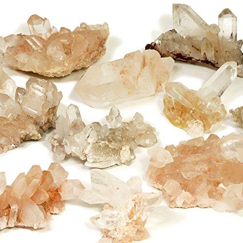 新宿銀の蔵 天然水晶 ヒマラヤ産 水晶クラスター 約200g 2個セット (ヒマラヤ クル マナリ産) 人気 天然石 パワーストーン