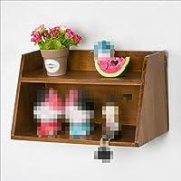 ANDEa レトロ装飾ディスプレイラック、木製の壁棚デスクトップストレージラック壁掛け装飾壁クラップボードシェルフの本棚クリエイティブ食料品ラック30 * 14 * 16CM 独創性 ( 色 : #1 )