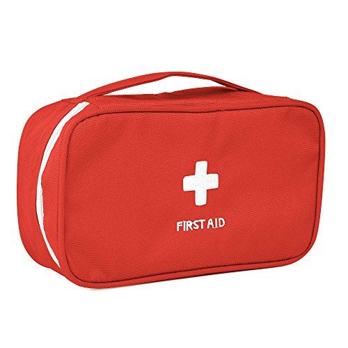 パラディニア(Paladineer) ミニ救急箱 常備薬収納コンパクト アウトドア メディカルポーチ 携帯用救急箱 応急処置バック 救急処置用品キット レッド