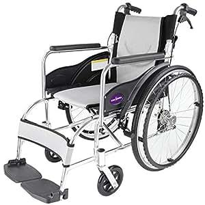 自走用車いす 車イス 車椅子 「ZEN-禅-」 刀銀(シルバー) 軽量 コンパクト 背折れ 折りたたみ ノーパンクタイヤ バンドブレーキ メーカー保証1年付き カドクラ