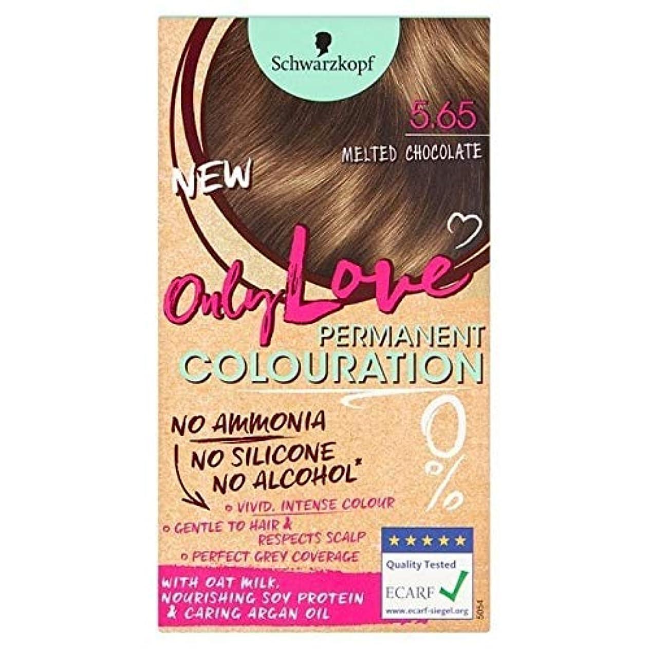 交換グローバル未払い[Only Love ] 唯一の永久染毛剤565溶かしたチョコレートを愛します - Only Love Permanent Hair Dye 565 Melted Chocolate [並行輸入品]