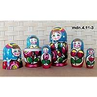 Russian Nesting Doll (Maidan) * 3 Pcs / 4 in * mdn-3.4.11-3