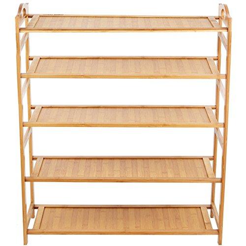(ハンキ)Hankey シューズラック 板型 天然竹製 組み立て式 5段 幅...