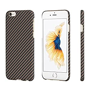 PITAKA アラミド ファイバー iPhone6 plus/iphone6s plusケース 防弾チョッキ素材 極薄 軽量 高耐久性 超頑丈 ミニマリスト 黒 ローズゴールド ブラック ピタか