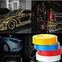 FidgetGear 1ピース5メートルファッション車の反射リムテープホイールステッカートリムオートバイ発光