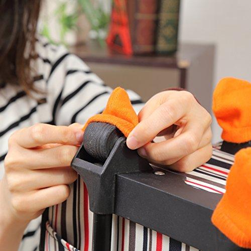 d6c4e1605a ... 【Natural Stuff 】 スーツケース ホイール用 カバー 保管時の床汚れを防止 ...