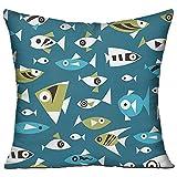 魚 高品質 低反発 座布団 クッション 椅子用 かわいい オシャレ 寝具 中袋 中身:綿