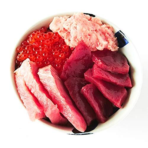 南まぐろ (インドマグロ) 中トロ 赤身 200gずつ いくら醤油漬け(500g) ネギトロ1kg 刺身