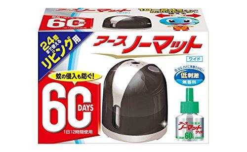 アース製薬 アースノーマット60日セット リビング用 ラグジュアリーブラック...