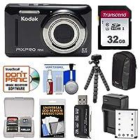 Kodak PixPro Friendlyズームfz53デジタルカメラwith 32GBカード+バッテリー&充電器+三脚+ケース+フレックスキット