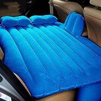 車のエアベッドSUVのセックスベッドキャンプ旅行屋外セダンマットレスクッションインフレータブルベッドヘビーデューティーバックシート、ブルー