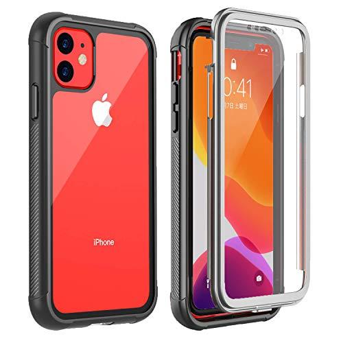 iPhone 11 ケース 6.1インチ 耐衝撃ケース 全面保護 米軍MIL規格取得 指紋認識対応 Qi充電対応 超軽量 落下防止 高耐久ケース (iPhone 11)
