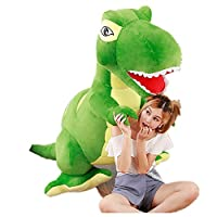 恐竜 ぬいぐるみ 特大 座れる 巨大 きょうりゅう Dinosauria (200cm, グリーン)