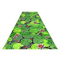 廊下カーペット敷物 ランナーカーペット 3D印刷カーペット マット-ブレンドされた個 創造的ノンスリップ ウェアラブル、洗濯可能 CONGMING (色 : Pond lotus, サイズ さいず : 1.6*4m)