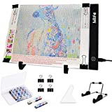 Mlife Diamond Painting A4 LED Light Pad - Dimmable Light Board Kit, Apply to Full Drill & Partial Drill 5D Diamond Painting w