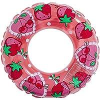 Firlar 可愛いうきわ スイムリング スイムベスト 水遊び 子供用 おしゃれ PVC素材 ストロベリー 大人用浮き輪