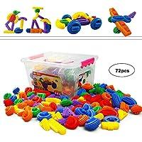 Bwon 72-piece Building Blocksセット| Sensory Baby Toys |教育Stem Toys for Kids |子供、幼児&
