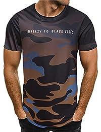 Dafanet メンズ ファション 2018大人気 高級ティーシャツドット Tシャツ 半袖 シャツ トップス  ショートスリーブ ボーイズ シャツ 男の子 カモフラージュ柄 シンプル 人気トレンド 大きいサイズ