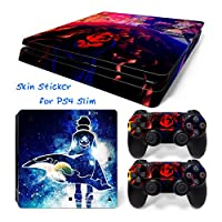 Hzjundasi 1209# Body Sticker Decal Skin ステッカーデカールスキン For Playstation 4 PS4 Slim Console+Controllers