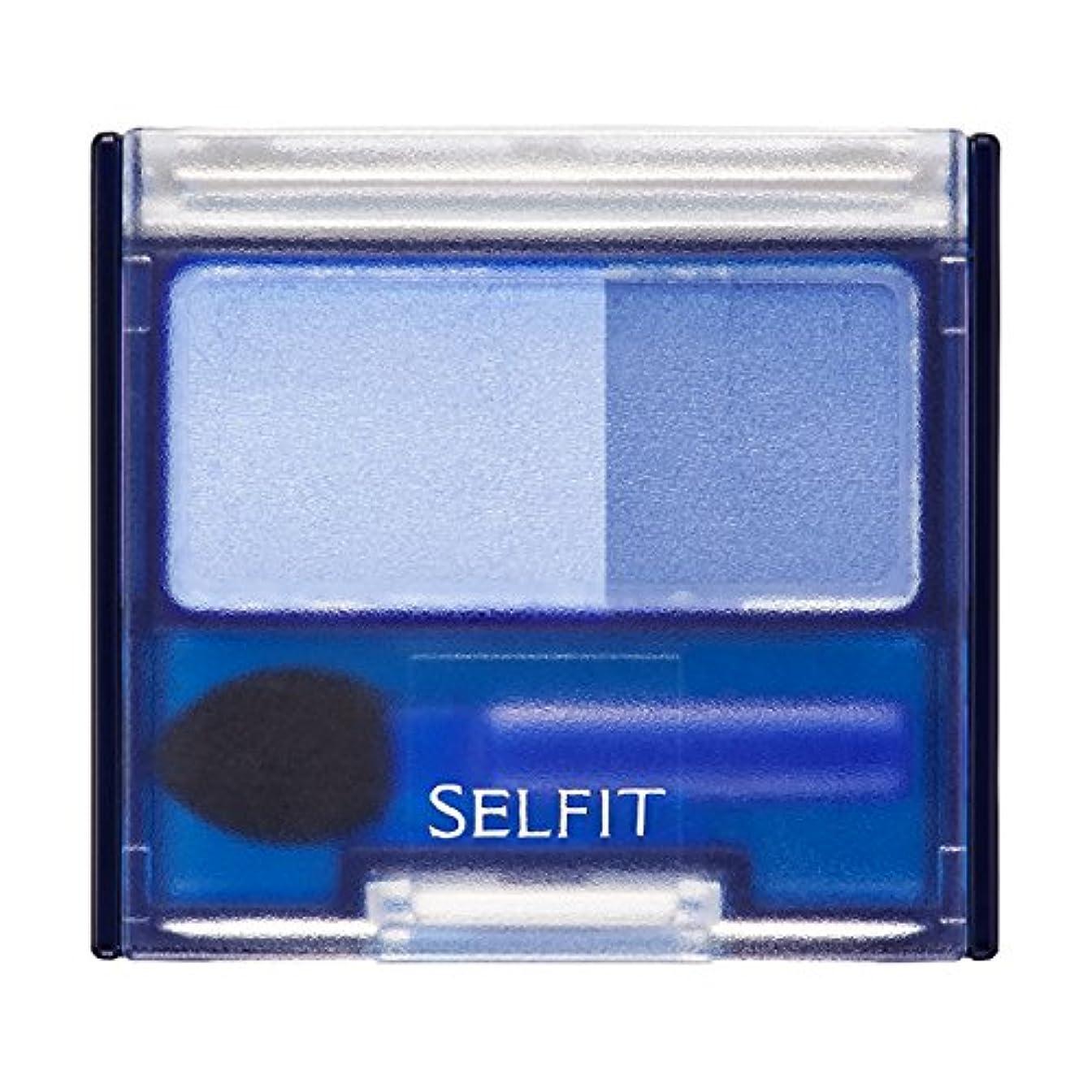 スパイラル意味のある渇きセルフィット デュアルアイカラーN ブルー100 2g