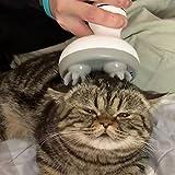 ACHICOO ペットマッサージ ヘッド 多機能 電気 足形状 猫