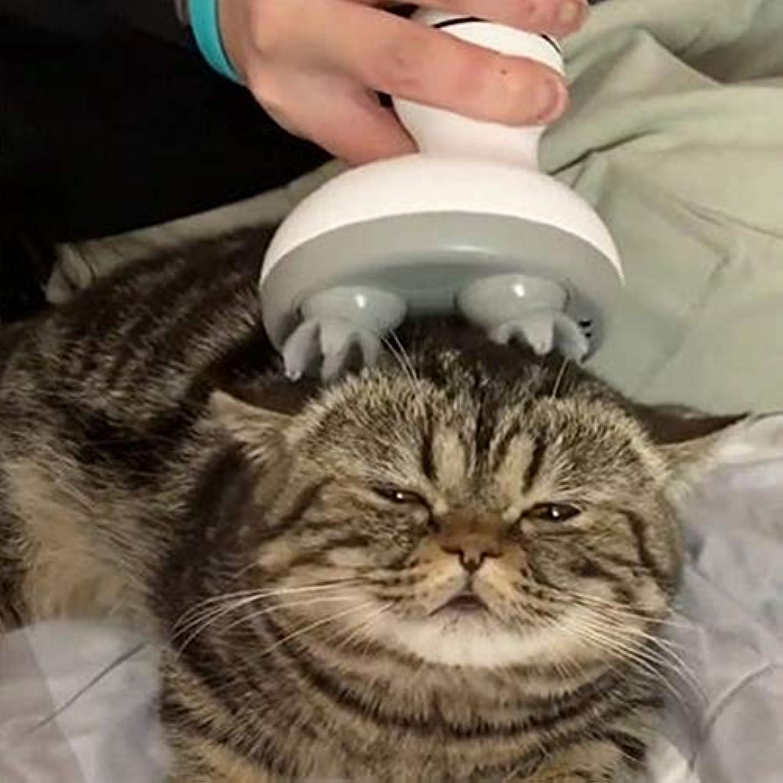 支払う急いで目を覚ますACHICOO ペットマッサージ ヘッド 多機能 電気 足形状 猫