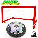 Myamyキッズ用サッカーゴールセットHover Balls with強力なLEDトレーニングフットボール玩具屋内または屋外の2 Gates Football