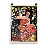 ヴィンテージポスター–Jobシガレット・ペーパー–プレミアム光沢フォト用紙ポスター 18x24