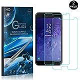 【2枚セット】 Galaxy J7 DUO フィルム CUNUS Samsung Galaxy J7 DUO 専用設計 硬度9H 耐衝撃 強化ガラスフィルム 超薄0.26mm 高感度タッチ 気泡防止 指紋防止 高透明度で 液晶保護フィルム