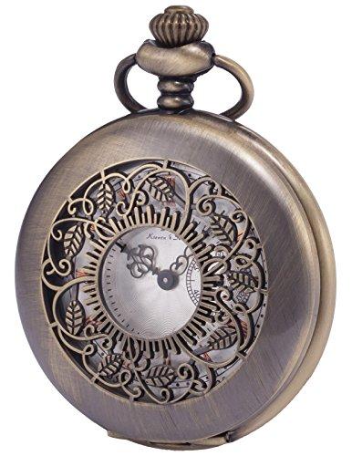 [해외][케에스] KS 회중 시계 석영 빈티지 뚜껑 로마자 청동 KSP049/[KS] KS pocket watch Quartz with vintage lid Roman bronze KSP049