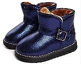 (プチプライム) Petit Prime キッズムートンブーツ 子供 シューズ 靴 ブーティー カジュアル 冬 春 男の子 女の子 もこもこ 暖かい 可愛い キュート 全2色展開 ブラック ブルー (21.5cm(EU 33)(内21.2cm), ブルー)