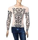 INNOVATION FACTORY タトゥー タイツ tシャツ tattoo スパンデックス シャツ セクシー 和柄 tribal 刺青 隠しアームカバー スリーブ ロンT