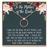 Dear Ava 花嫁の母 ギフト ネックレス:花嫁の親のジュエリー、2リンクサークル。