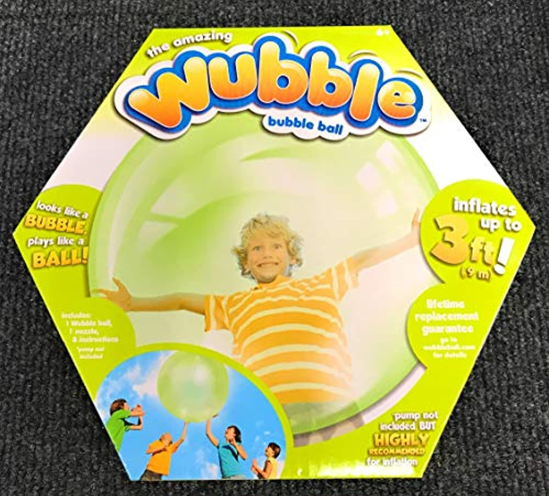 The Amazing WUBBLE BUBBLE ~ GREEN ~ Looks like a bubble plays like a ball by NIS International [並行輸入品]