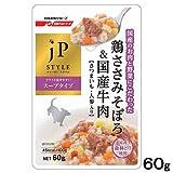 Amazon.co.jpジェーピースタイル ウエット 国産鶏ささみそぼろ&国産牛肉、さつまいも・人参入り 60g【単品】