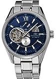 [オリエント時計] 腕時計 オリエントスター セミスケルトン 機械式 自動巻(手巻付) ネイビー WZ0191DK シルバー