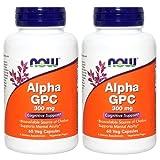 【バリュー2本セット】[海外直送品] NOW Foods アルファ GPC 300mg 60粒 Alpha GPC 300mg 60vcaps