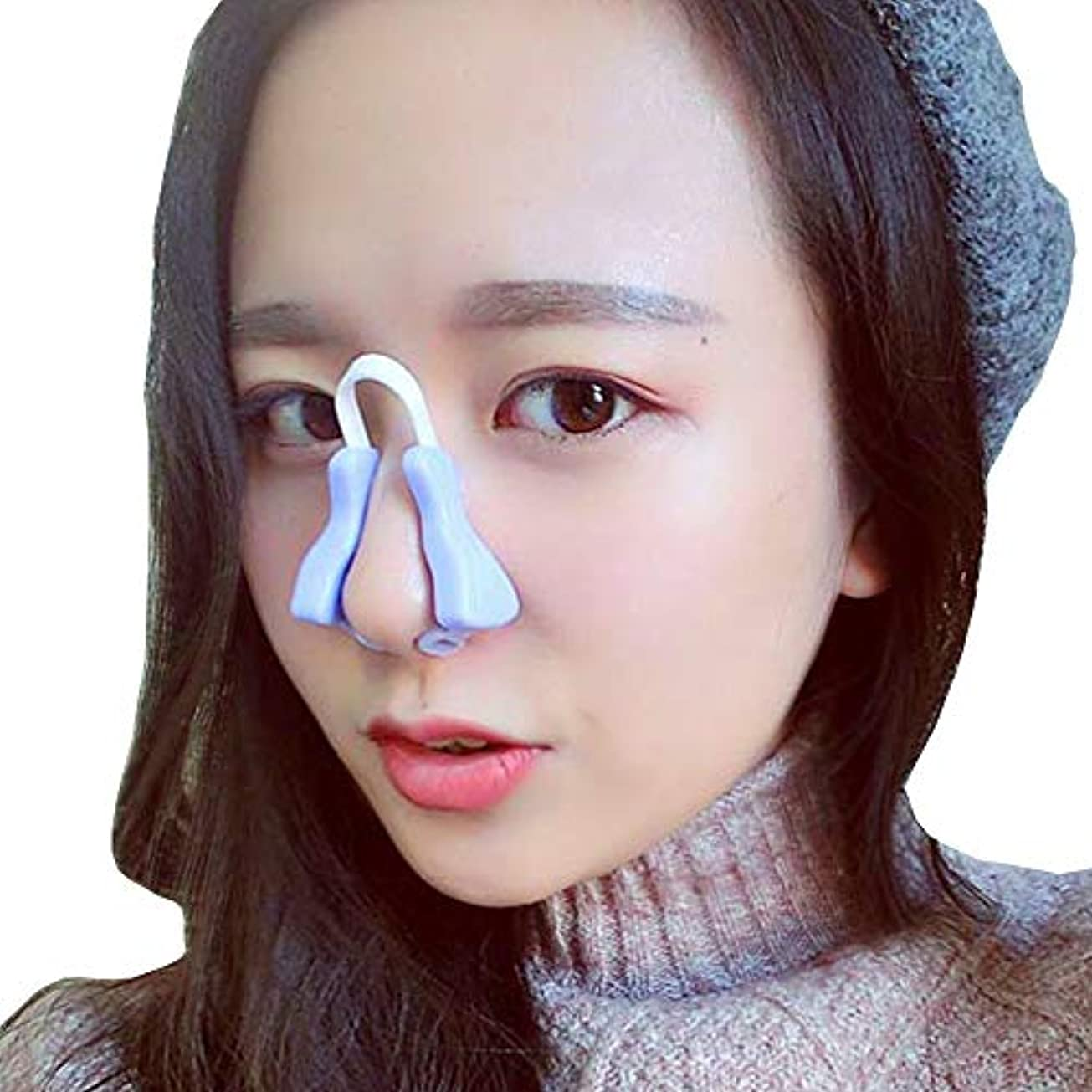 YOE(ヨイ) ノーズアップ 鼻プチ 鼻筋ビューティー ノーズクリップ 美鼻でナイト プチ整形 鼻 矯正 ノーズピン (フリーサイズ, パープル)