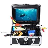 Lixada フィッシングカメラ ポータブル 7 – 9インチ 液晶ディスプレイモニター 魚探知機 防水 水中釣りカメラ 24個LEDランプ 15Mケーブルシーフィッシング